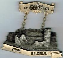 1 Int Wanderung Sv MORBACH 1979  Ruine Baldenau - Entriegelungschips Und Medaillen
