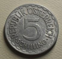 1952 - Autriche - Austria - 5 SCHILLING, Aluminium, KM 2879 - Austria