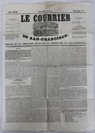 JOURNAL LE .COURRIER DE SAN FRANCISCO N° 4 MAI 1850 BON ETAT - Kranten