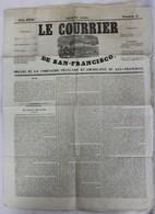 JOURNAL LE .COURRIER DE SAN FRANCISCO N° 5 JUIN 1850 BON ETAT - Journaux - Quotidiens