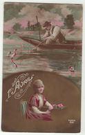1er Avril // Poisson D'Avril // Femme-Frau-Lady Et Pêcheur - 1er Avril - Poisson D'avril