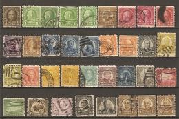 Etats-Unis 1922/6 -  Petit Lot De 35 Timbres° - Nuances - Roulettes - Kilowaar (max. 999 Zegels)