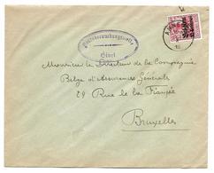 LE0005. Censure De GIVET. Occupation Allemande En Belgique. N° 3 ANNEVOIE 1915 + Censure Ovale - V. Bruxelles. TB - Marcophilie (Lettres)