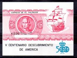 Hoja Bloque De El Salvador N ºYvert 34A ** - El Salvador