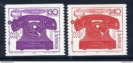 SWEDEN 1976 Telephone Centenary MNH / **.  Michel 939-40 - Suède