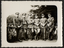 Photo Ancien / Foto / Photograph / Soldats / Soldaten / Soldiers / Officieren / Luitenant / Infanteristen - Guerre, Militaire