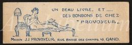 Reclame / Bladwijzer / Café / Maison / J. J. Provoyeur / Gand / Gent / Size: 4.50 X 13.80 Cm. / 2 Scans - Marque-Pages