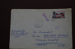 6-249 Amiens 1980 Navire Allemand RFA Retour Insuffisance D'adresse Breme Navire Part Pour L'Antarctique - Forschungsprogramme