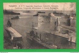 Taranto 1917 Navi Cacciatorpedinieri Impavido Impetuoso Indomito Intrepido Insidioso E Irrequieto Ships Navires - Guerra