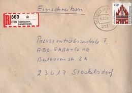 ! 1 Einschreiben, 1994, Selbstklebender R-Zettel Aus Salzhausen In Der Lüneburger Heide 21376 - BRD