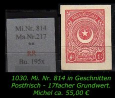 EARLY OTTOMAN SPECIALIZED FOR SPECIALIST, SEE...Mi. Nr. 814 U  - Mayo 217 - 1921-... República