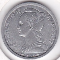 ILE DE LA REUNION. 1 FRANC 1948 AILE . ALUMINIUM - Réunion