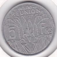 ILE DE LA REUNION. 5 FRANCS 1955. ALUMINIUM - Réunion
