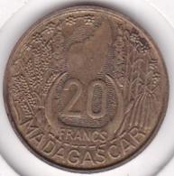 MADAGASCAR /REPUBLIQUE FRANCAISE. 20 FRANCS 1953.  SUP / XF - Madagascar