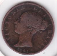 Grande-Bretagne. 1/2 Penny 1841. Victoria - 1816-1901: 19. Jh.
