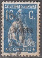 AÇORES-1930-1931, Tipo «CERES» Gravura Retocada. Selos Continente C/ Sobr. «AÇORES»  16 C.   (o) Afinsa Nº 300 - Azores