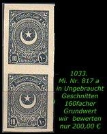 EARLY OTTOMAN SPECIALIZED FOR SPECIALIST, SEE...Mi. Nr. 817 A U - Im Senkrechten Paar -RR- - Ungebraucht