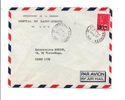 REUNION LETTRE DE SAINT JOSEPH POUR LA FRANCE 1973 - Reunion Island (1852-1975)