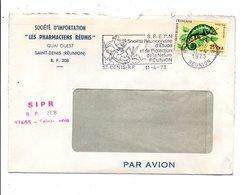 REUNION LETTRE A EN TETE DE SAINT DENIS POUR LA FRANCE 1973 - Reunion Island (1852-1975)