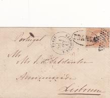 Francia -Portugal  Carta Circulada De Paris Para Lisboa - España