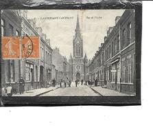 59-LAMBERSART-CANTELEU-Une Vue Animée Des Magasins Rue De L'Eglise - Lambersart