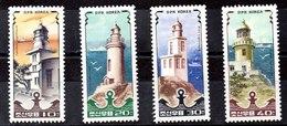 Serie De Corea De Norte N ºMichel 2631/34** FAROS (lighthouse) - Corea Del Norte