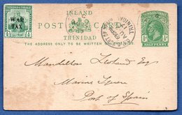 Trinidad   -- Entier Postal  - 28/8/1917 - Trinité & Tobago (...-1961)