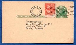 USA   -- Entier Postal- Pour Paris  -- 1939- - Postal Stationery