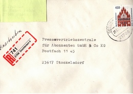 ! 1 Einschreiben, 1994, Selbstklebender R-Zettel Aus Drochtersen 21706 - BRD