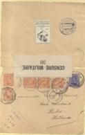 BRIEFOMSLAG  LEGERPOSTERIJ NR.4-8.XI.17 NAAR HULST 23.XI.1917 -SLUITVIGNET LE VETEMENT-DUBBELCENSUUR BELGIE,NEDERLAND - Autres Lettres