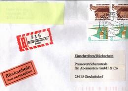 ! 1 Einschreiben Mit Rückschein, 1996,  R-Zettel Aus Oldendorf, Kreis Stade, 21726 - BRD