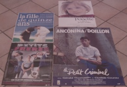 LOT 4 AFFICHES CINEMA FILMS Jacques DOILLON FILLE DE 15 ANS PETITS FRERES PONETTE LE PETIT CRIMINEL - Posters