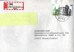 ! 1 Einschreiben , 1994,  Selbstklebender R-Zettel Aus Neuenkirchen 21763 - [7] République Fédérale