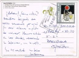 33384. Postal Aerea LA GUAIRA (Venezuela) 1997. Vista De SALTO PARÁ, Catarata - Venezuela