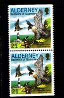 ALDERNEY - 2000  WWF  21p  PAIR  EX BOOKLET  IMPERF  TOP & BOTTOM  MINT NH - Alderney