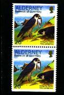ALDERNEY - 2000  WWF  26p  PAIR  EX BOOKLET  IMPERF  TOP & BOTTOM  MINT NH - Alderney