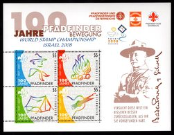 Osterreich Austria Oostenrijk 2007 R Blok Israel 2008 Scouting разведка Explorando Vyhledavani Harcerstwo Pfadfinder - Neufs