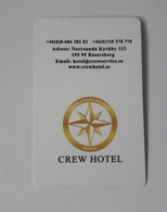 HOTEL KEYCARD -  (  CREW HOTEL ROSERBERG    ) - Hotelsleutels (kaarten)
