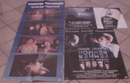 LOT 4 AFFICHES FILMS Claude LELOUCH TOUT CA...POUR CA! DES JOURS ET DES LUNES HOMMES FEMMES PARTIR REVENIR - Posters