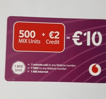 MALTA - VODAFONE  PHONECARD  10 EUROS - Malta