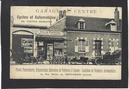 CPA Loiret 45 Montargis Garage Publicité Publicitaire Voiture Automobile Vélo Moto Non Circulé - Montargis