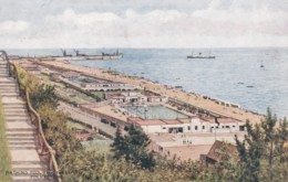 FOLKESTONE -BATHING POOL FROM THE LEAS - Folkestone