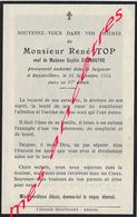 En 1954 à Bayonvillers René TOP Ep Sophie CHEROUTRE 87 Ans - Décès