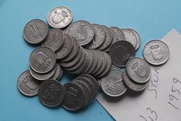 1959 > Lot Van/de 43 Stuks/Piece > 1 Franc - KM 4 > XF ( Uncleaned Coin / For Grade, Please See Photo ) ! - 1951-1960: Baudouin I