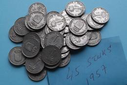 1957 > Lot Van/de 45 Stuks/Piece > 1 Franc - KM 4 > XF ( Uncleaned Coin / For Grade, Please See Photo ) ! - Congo (Belge) & Ruanda-Urundi