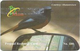 Bhutan - BMobile - Black Bird - GSM Refill 100Nu, Used - Bhutan