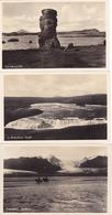 1177/ 3 Fotokaarten IJsland, Oraefajokull, Skaioare, Kistufoss, Sogio, Vid Myvatn - Islande
