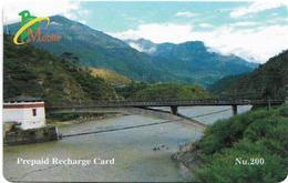 Bhutan - BMobile - Bridge - GSM Refill 200Nu, Used - Bhutan