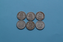 1955 > Lot Van/de 6 Stuks/Piece > 50 Cent - KM .. ( Uncleaned Coin / For Grade, Please See Photo ) ! - Congo (Belga) & Ruanda-Urundi