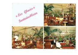 Cpm - 77 FONTAINEBLEAU - BRASSERIE LES GLACES Publicité CHAMPIGNEULLES Bar Caisse Enregistreuse - Fontainebleau